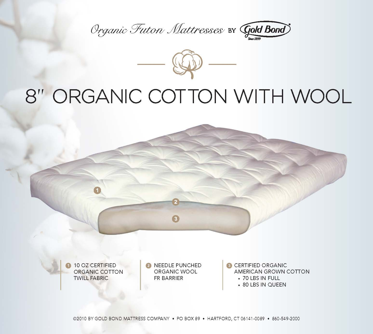 8 Organic Cotton With Wool